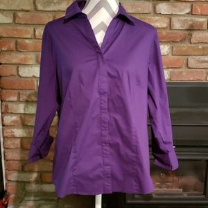 Riders by Lee purple button-up shirt sz XL